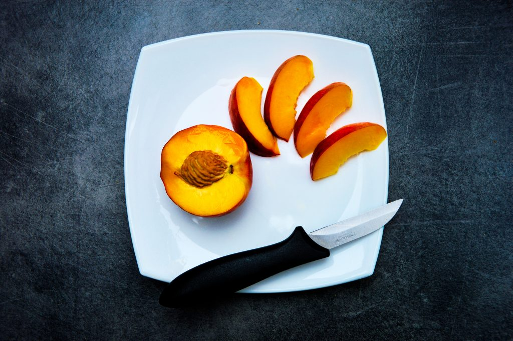 Knife with Peach